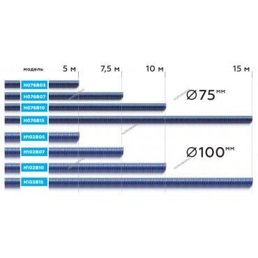 Шланг газоотводный D=102мм, длина 15м (синий) NORDBERG H102B15
